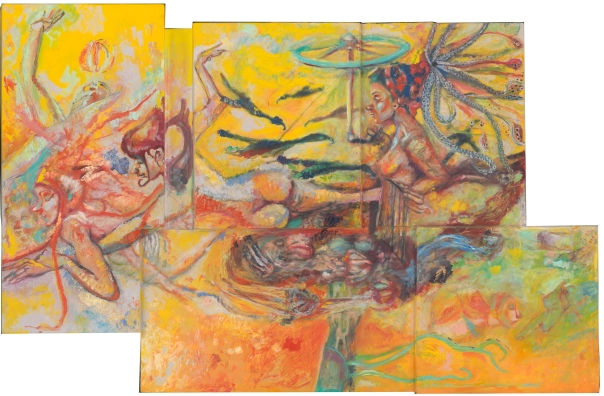 One of three panels of Cara and the Buzzards of Time Machine (private collector)